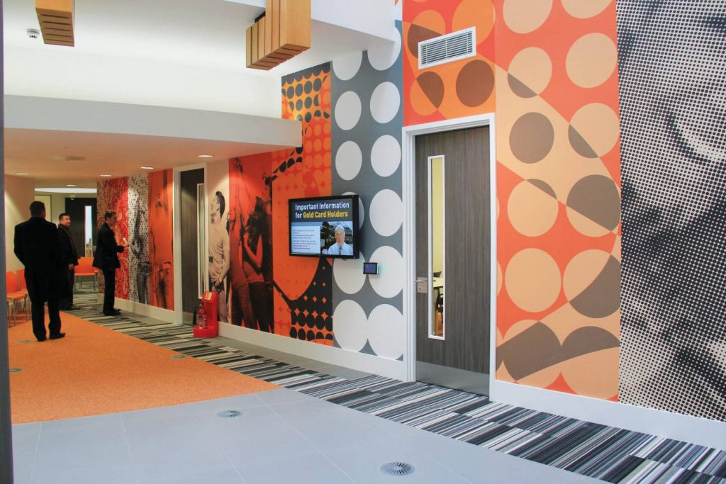 Bespoke window graphics vinyl wall graphics hampshire for Office design derby